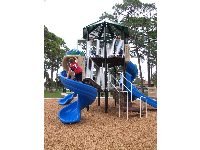 The three-level play structure.