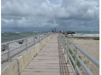 The jetty, a great place to walk and breathe the salt air.