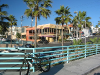 The carefree lifestyle at Manhattan Beach...