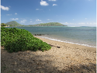 Patch of sand, with views of the adorable Koko Head and Koko Crater.
