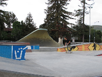 The skate park has a great wave area.