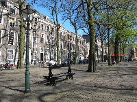 Attractive buildings line Lange Voorhout.