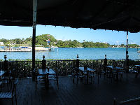 Outdoor tables on the inlet.