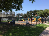 The playground is fenced!