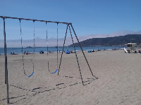 The swings in the sand!