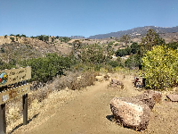 You can also start the San Antonio Creek trail at the top,  off Highway 154, as shown here.