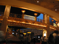 The trendy casino/lobby area at the MGM Grand.