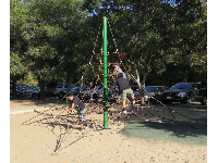 The space net at Tucker's Grove, a short walk from the main playground.