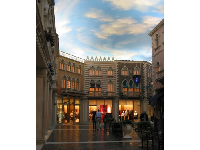 Shopping area in the Venetian, just around the corner from the little bakery I found.