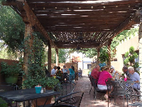 The shady patio at Josefina's.