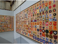 Buddy Amos' collection of patches.