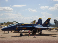 Blue Angels plane.