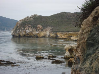 View toward Avila Beach from Smuggler's Cave.