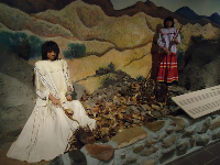 Diorama about the Mescalero Apache Indians.