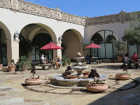 San Marcos Courtyard. The fountain has been turned into a planter because of the drought.