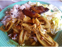 The amazing curried palm hearts, at Reggae Shack. I want to be eating this right now!