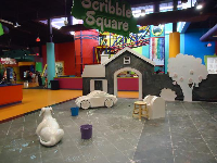 Scribble Square, where little kids can draw with chalk.