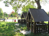 Two playhouses.