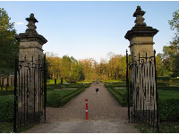 Gates into the garden.