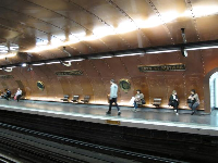 The steampunk-style metro station.
