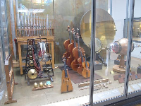 Musical instruments owned by famous musicians.