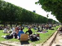 Picnic basket at Jardin du Luxembourg. The life!