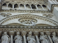 Beautiful decorations on the exterior of the cathedral.