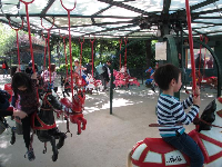 The carousel in the south part of the park.