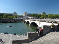 Pont d'Iena and the Seine river.