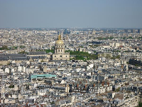 Hotel des Invalides, as seen from the Eiffel Tower.