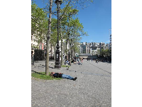 Lazing in the sun at Place Georges Pompidou- bliss!