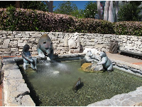 Kids love the fountain of the bears and Chumash indian hunting for salmon.