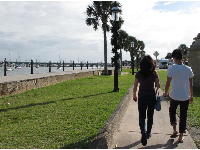 Walking along the promenade near the Castillo.