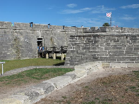 The fort. It costs money to go inside.