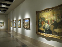 Row of Impressionist paintings.