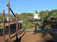 Calisthenics exercise equipment.