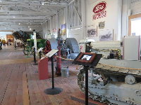 Agricultural equipment inside the Museum of Ventura County.