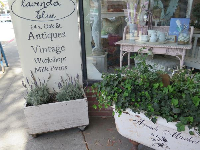 Lavender Blue, a shop with soaps and other frilly items.