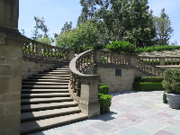 Grand staircase in the garden.
