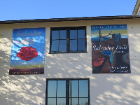 Banners for the Dali17 exhibition at the Museum of Monterey.