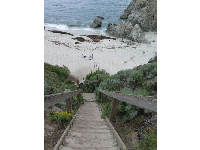 Stairs leading down to Gibson's Beach.