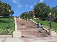 Janss steps, that lead up to Dickson Court, the main quad.