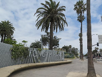The Tongva Park sign.