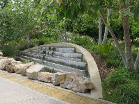 Fountain over stones.