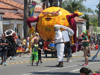 Mr. Sun, in the Summer Solstice Parade 2017.