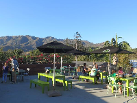 The wonderful mountain views you enjoy when you eat at Burger Fi. Delicious burgers and healthy options too!