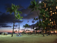 Dusk at Hilton Hawaiian Village Beach- perfection!