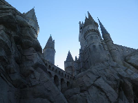 The castle in Harry Potter land!