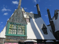 Gorgeous architecture in Harry Potter land.