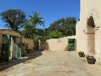 The front courtyard.